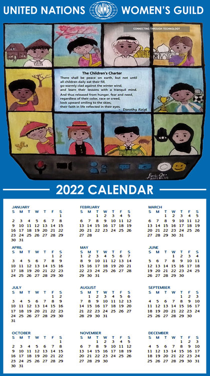 UNWG Calendar Towel 2022