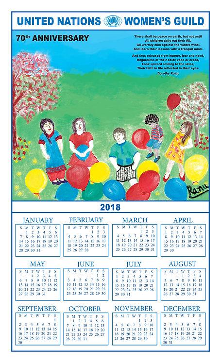 UNWG 2018 Calendar Towel