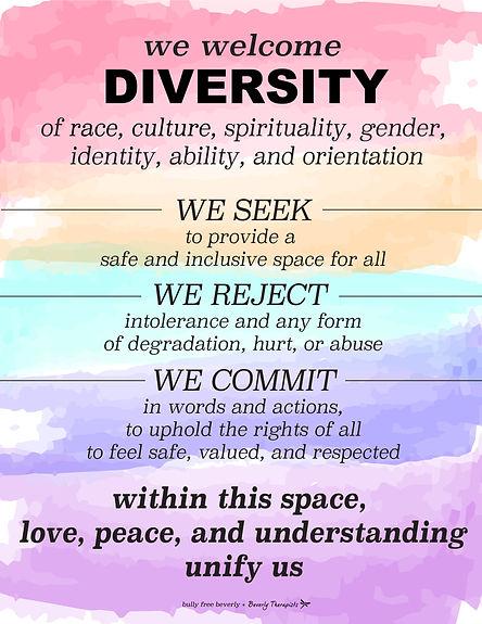 we welcome diversity