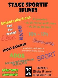 Boxing Arts montpellier - stage jeunes 3