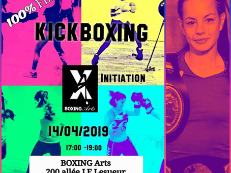 Découverte du kickboxing                  100% féminin.