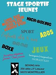 Stage-jeunes - Acte II - BOXING Arts