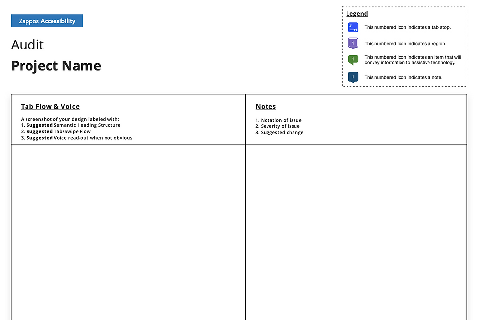 Accessibility template