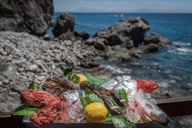 Primi e secondi di pesce Amalfi