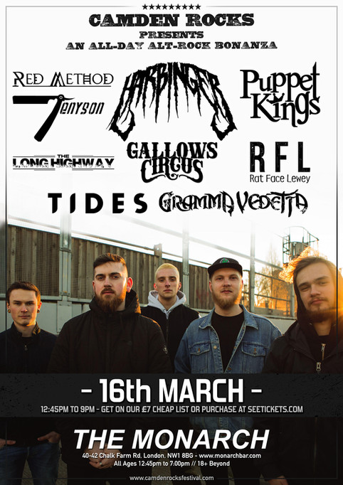Camden Rocks All Dayer at The Monarch
