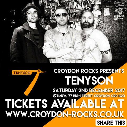 CROYDON ROCKS PRESENTS TENYSON