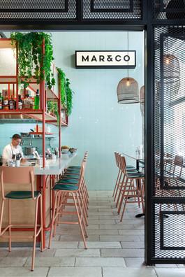 Mar&Co Restaurant. Design By Noa Ben Yehuda and Naomi Szwec