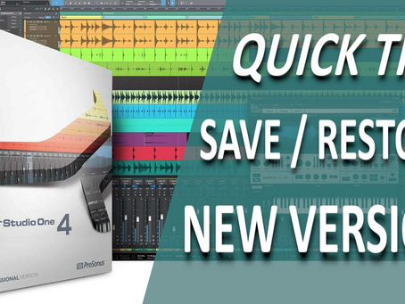 Don't Lose your Sessions! New Feature in Studio One v4