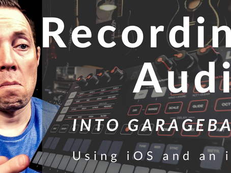 Record Audio from UnoSynth into GarageBand on any iOS device