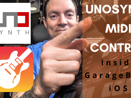 HOW TO USE UNOSYNTH | Midi Control in GarageBand for iOS