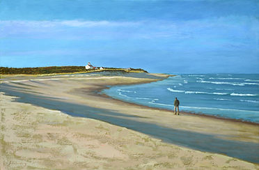 Walking the Beach | oil on canvas | Paul Schulenburg