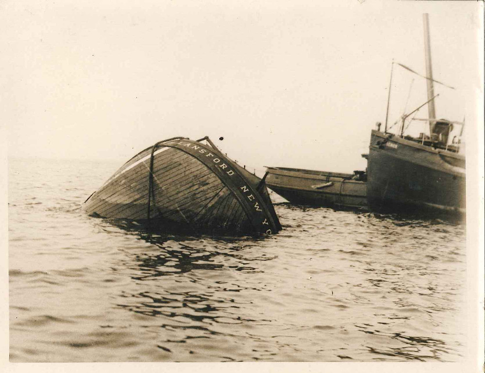 Sinking barges later in the day