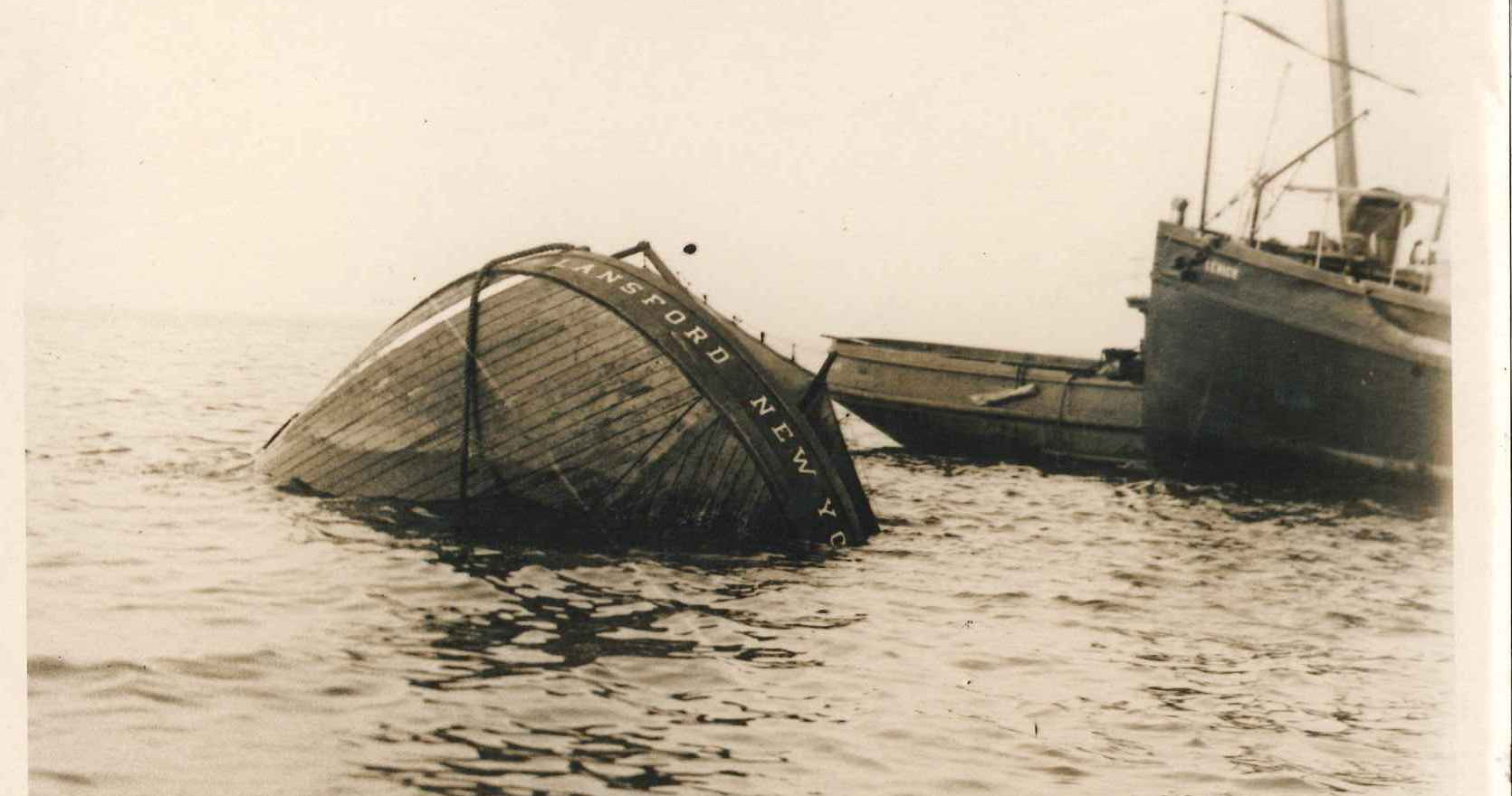 the Lansford sinking the next day