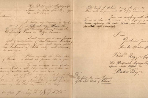 """War of 1812 """"Ransom Request"""""""