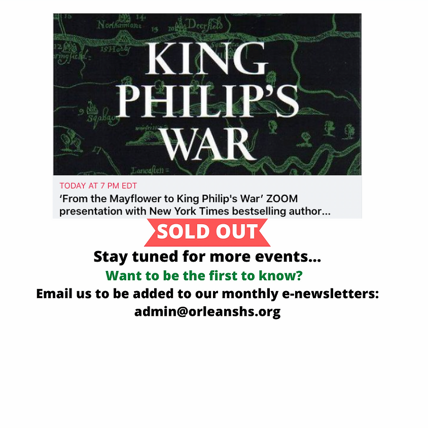 From the Mayflower to King Philip's War