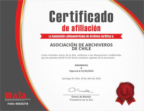 Certificado de Afiliación ALA
