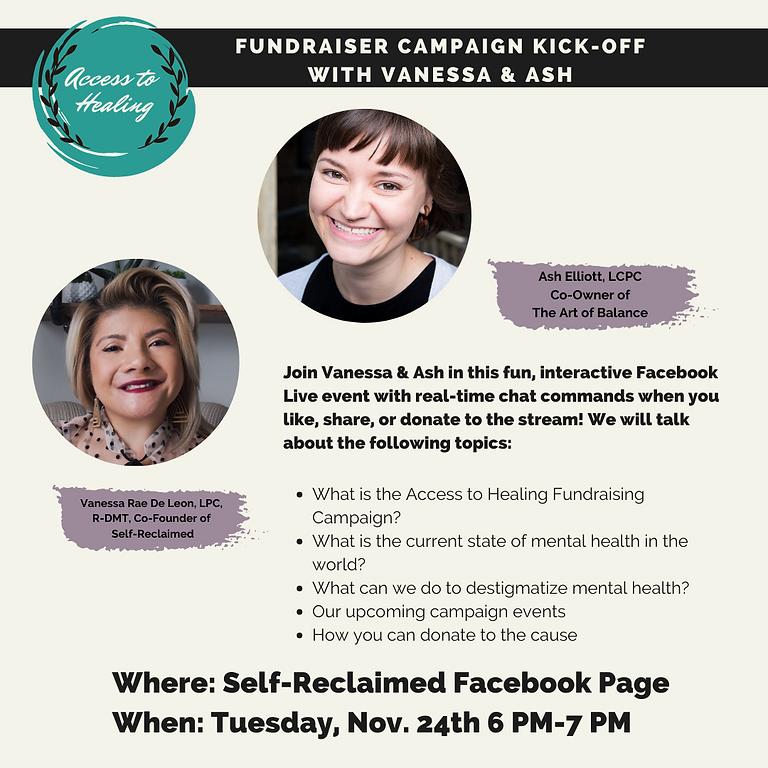 Access to Healing Facebook Live Kick Off