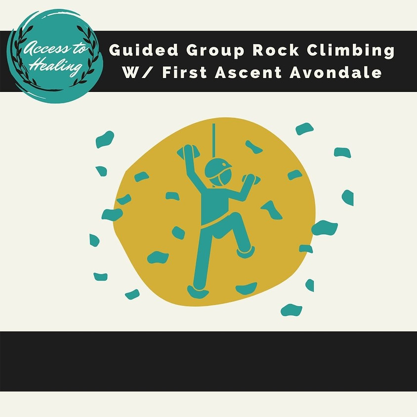 Guided Group Rock Climbing with First Ascent Avondale