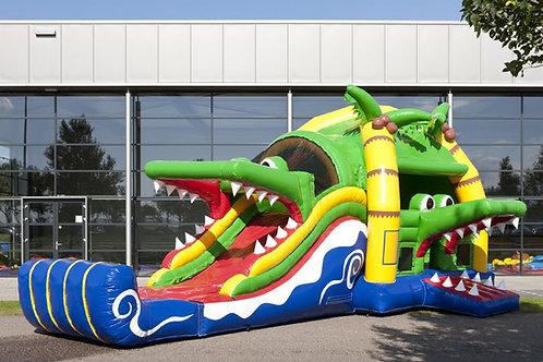XL Krokodil incl glijbaan