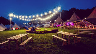 Hotel+Bell+Tent+Accommodation+Night+Time