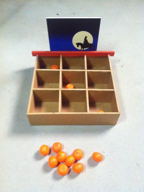 mandarijn 3 op een rij