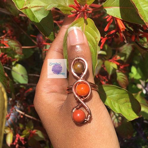 Lower Chakra Infinity Ring