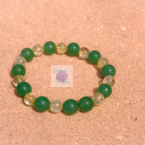 Green Aventurine & Citrine