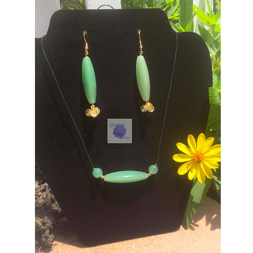 Green Aventurine & Citrine Jewelry Set