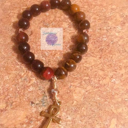 Red & Gold Tiger's Eye Bracelet