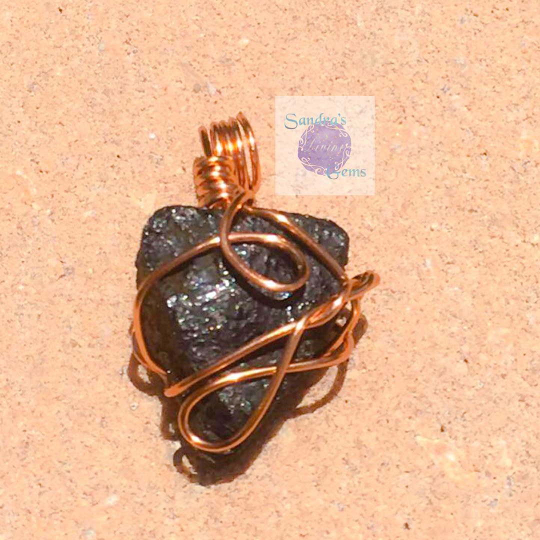Wrapped Black Tourmaline-Close Up