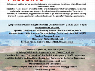 Symposium on Overcoming the Climate Crisis