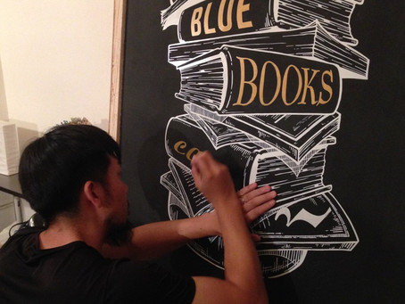 """PAINT WORK """"BLUE BOOKS cafe"""""""