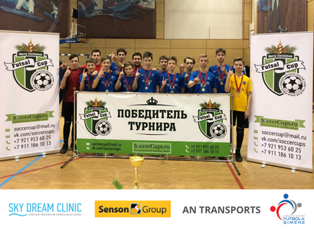 """U-14 komanda kļūst par čempioniem turnīrā """"Christmas Cup 2019"""" Sanktpēterburgā!"""