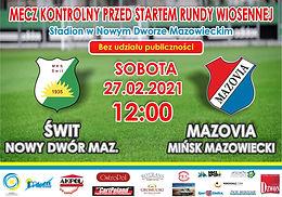 Świt Nowy Dwór Mazowiecki - MKS Mazovia Mińsk Maz. (Wyjazd)