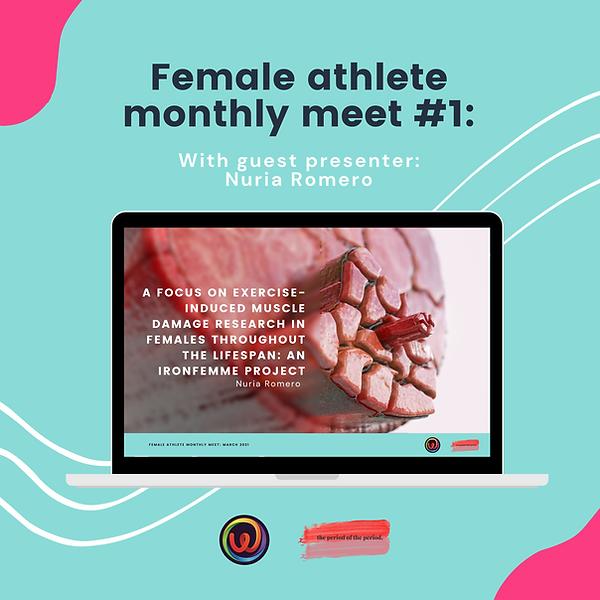 Female athlete monthly meet_ Presenter a