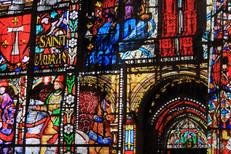 Projection sur la cathédrale de Rouen, France