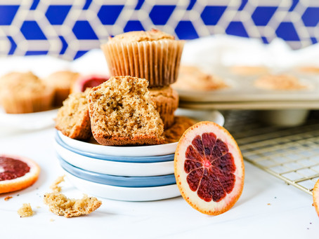 Blood Orange Poppyseed Muffins