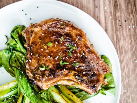 Honey Miso Glazed Pork Chops