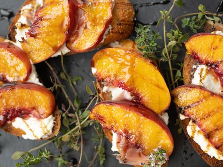 Peach & Ricotta Crostini