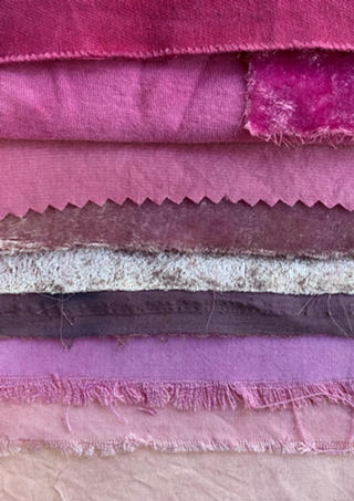 Cochineal dyed swatches