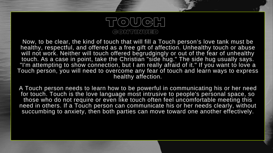 TOUCH CONT...