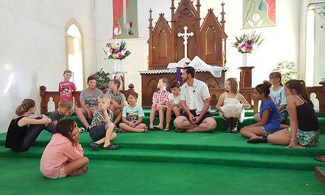 Renmark Lutheran Church Kids in worship