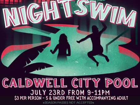 Night Swim Held July 23rd