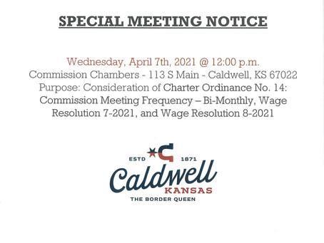 Special Meeting Notice April 7, 2021