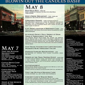 Schedule of Events May7th & 8th