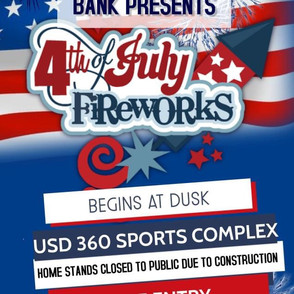 4th Fireworks Display Planned