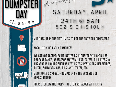 City Wide Clean Up Day April 24th