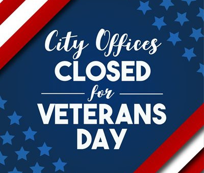 City Offices closed for Veterans Day
