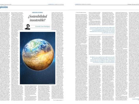 Retrouvez l'article sur le développement durable dans LA PROVINCIA | DIARIO DE LAS PALMAS