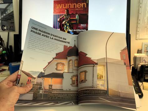Article dans Wunnen magazine, N° 72 (avril-mai 2021) : Une maison d'antan en phase avec la modernité